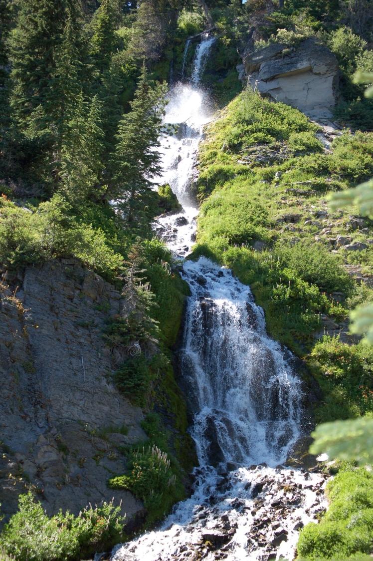 Waterfall at Crater Lake