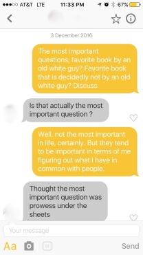 Bumble Conversation 2, Part 1