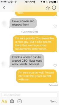 Bumble Conversation Part 3