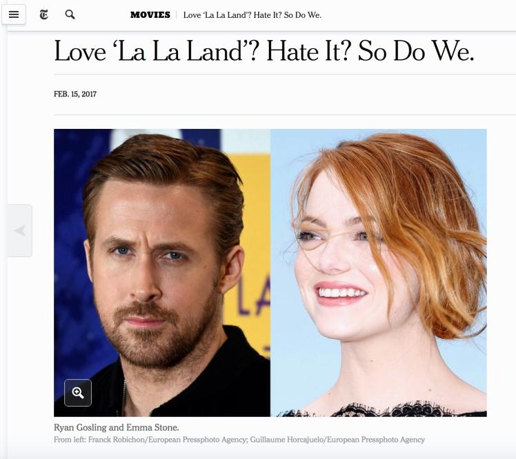 New York Times La La Land Article