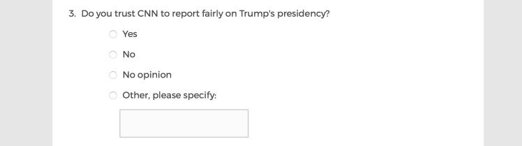 Mainstream Media Accountability Survey -- Question 3