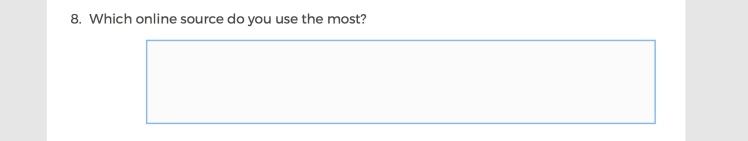 Mainstream Media Accountability Survey -- Question 8