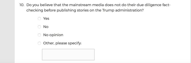 Mainstream Media Accountability Survey -- Question 10
