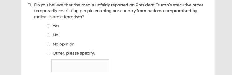 Mainstream Media Accountability Survey -- Question 11
