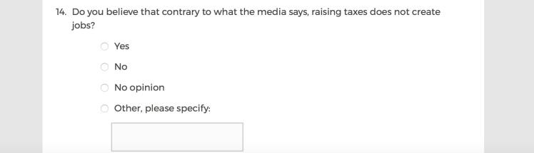 Mainstream Media Accountability Survey -- Question 14