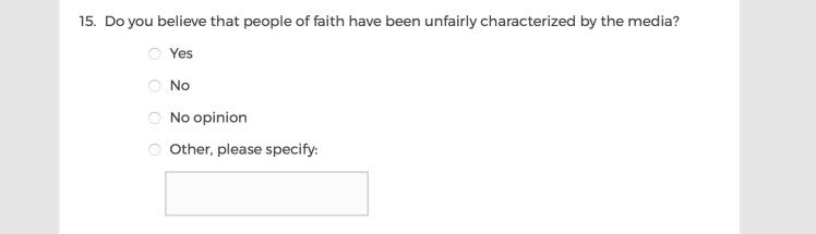 Mainstream Media Accountability Survey -- Question 15