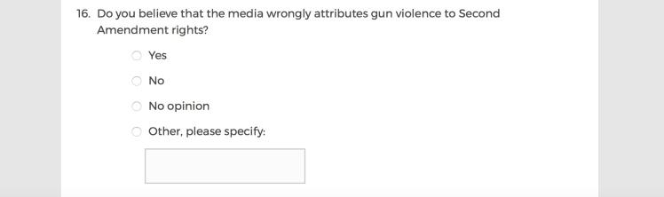Mainstream Media Accountability Survey -- Question 16