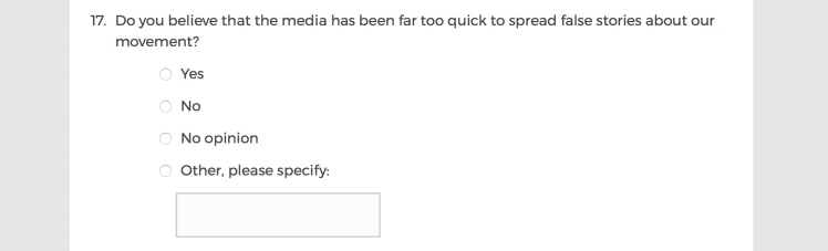 Mainstream Media Accountability Survey -- Question 17