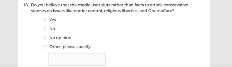 Mainstream Media Accountability Survey -- Question 18