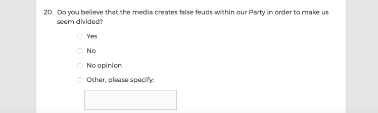 Mainstream Media Accountability Survey -- Question 20