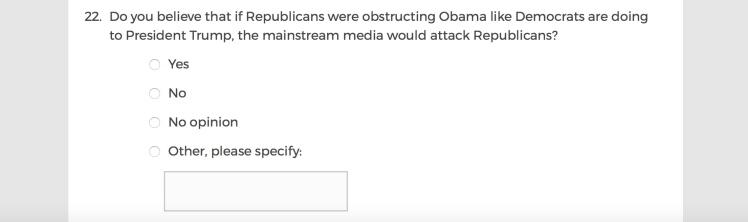 Mainstream Media Accountability Survey -- Question 22
