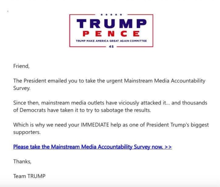 Trump/Pence Email