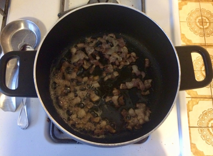 Sautéing bacon