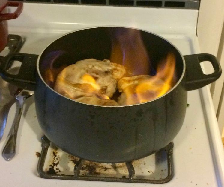Chicken en flambe